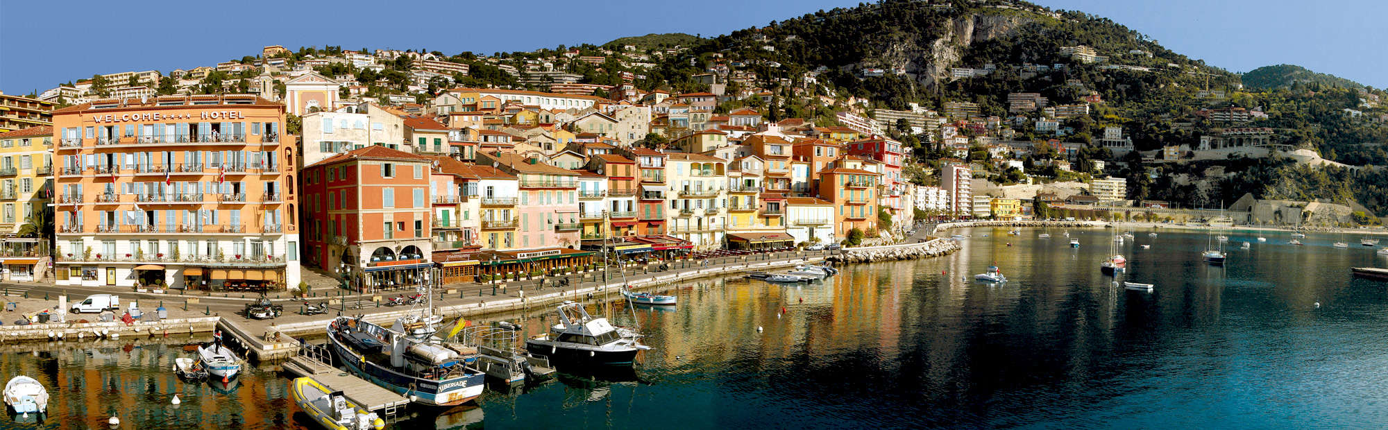 Villefranche-sur-Mer, Cote d'Azur French Riviera, Charming Town, Hotels, restaurants, beaches