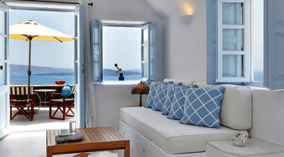 Santorini Greece Hotels Pezoules room