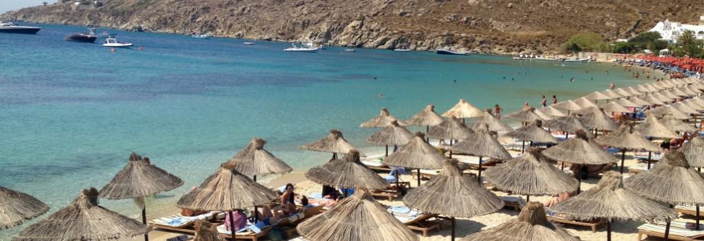 Greece, Mykonos Parasou Beach