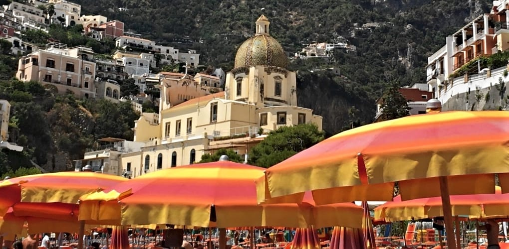 Positano Church and Beach