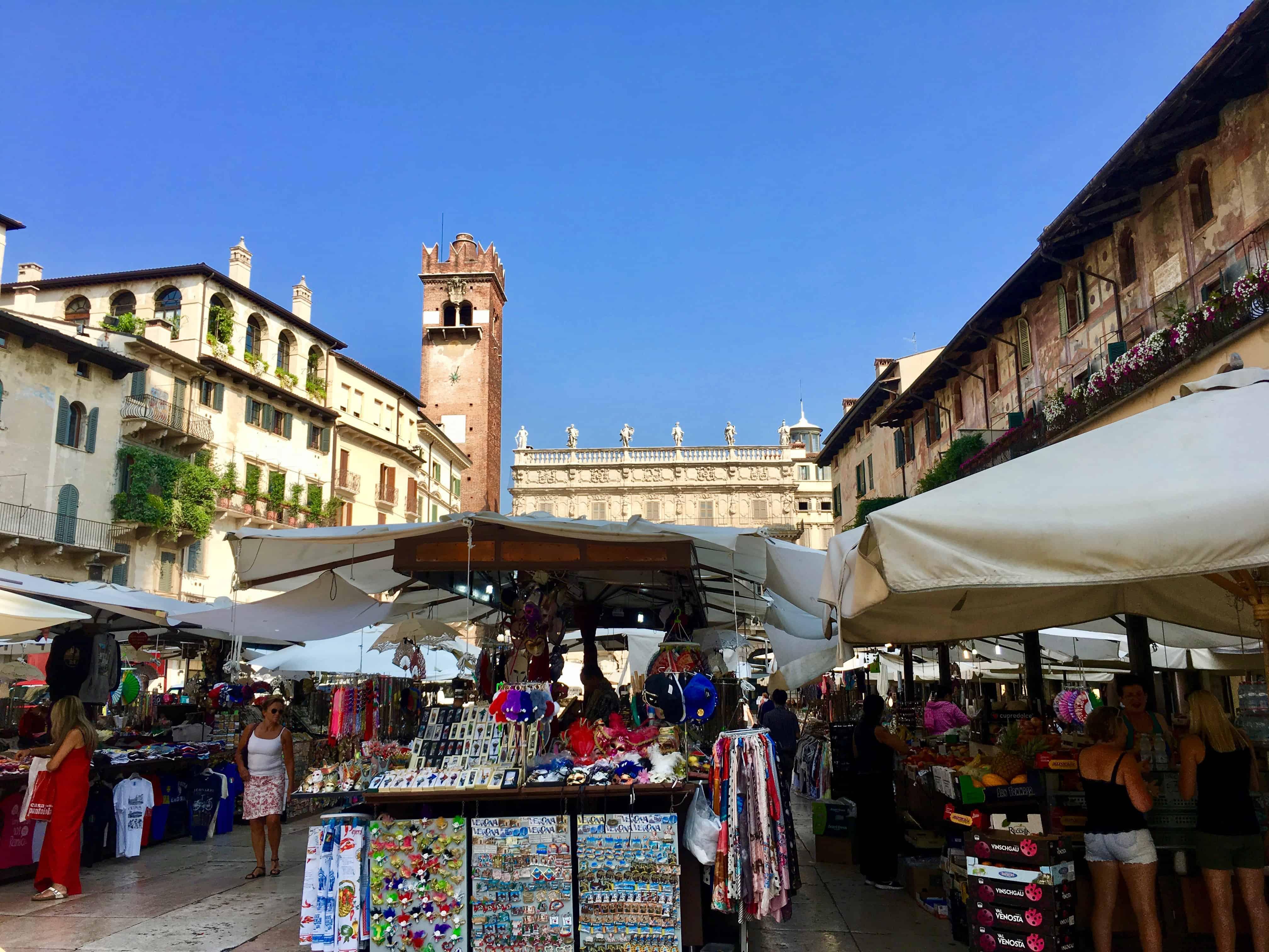 Verona Market at Piazza Erbe